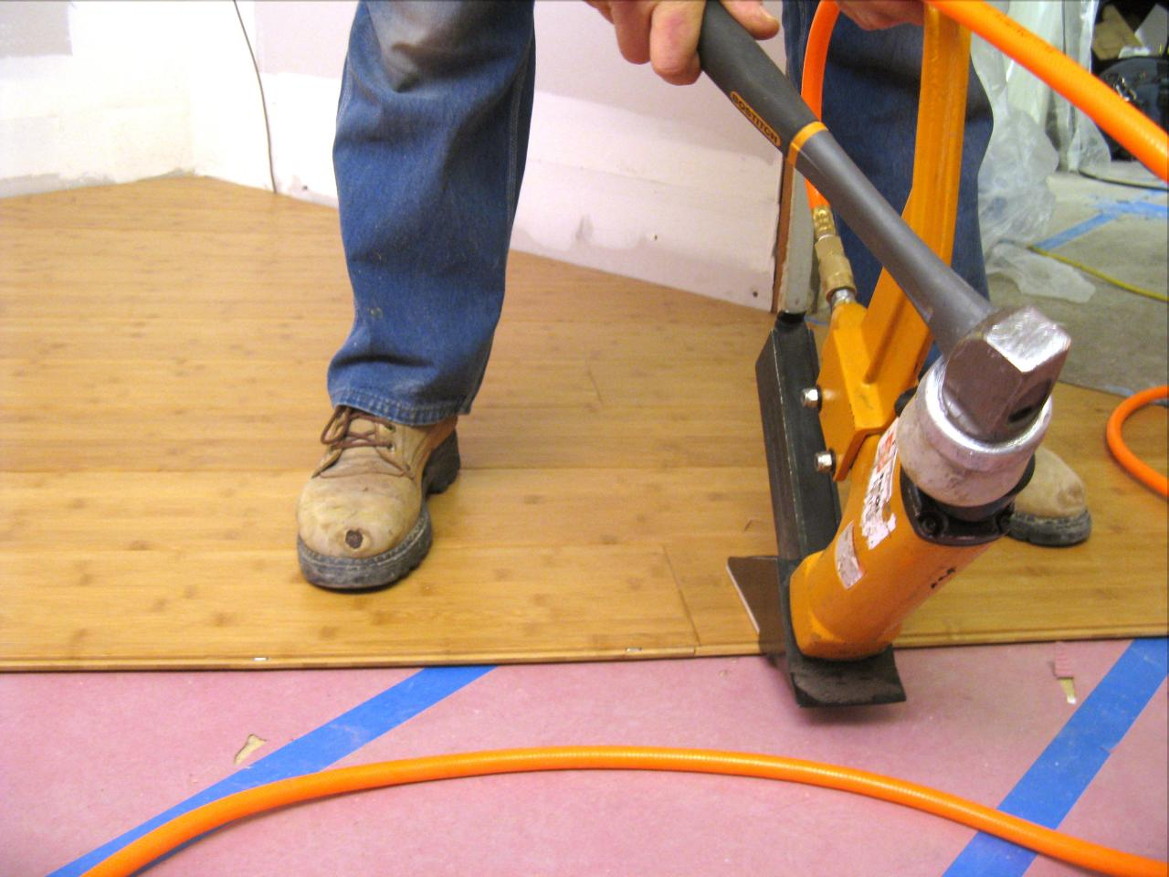 How To Install Bamboo Flooring On A Diagonal Tos Diy