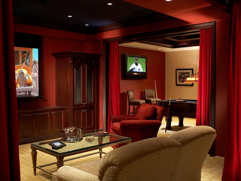 sports retreat - Home Theater Rooms Design Ideas