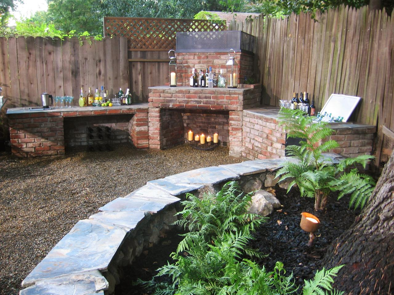 66 Fire Pit and Outdoor Fireplace Ideas | DIY Network Blog ... on Outdoor Kitchen And Fireplace Ideas id=96063