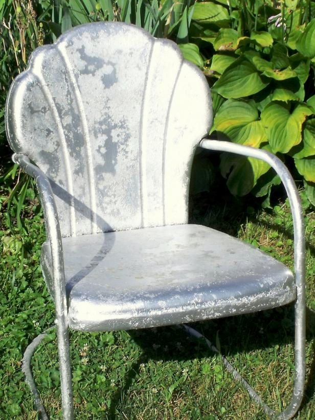 Old Metal Chair with Primer
