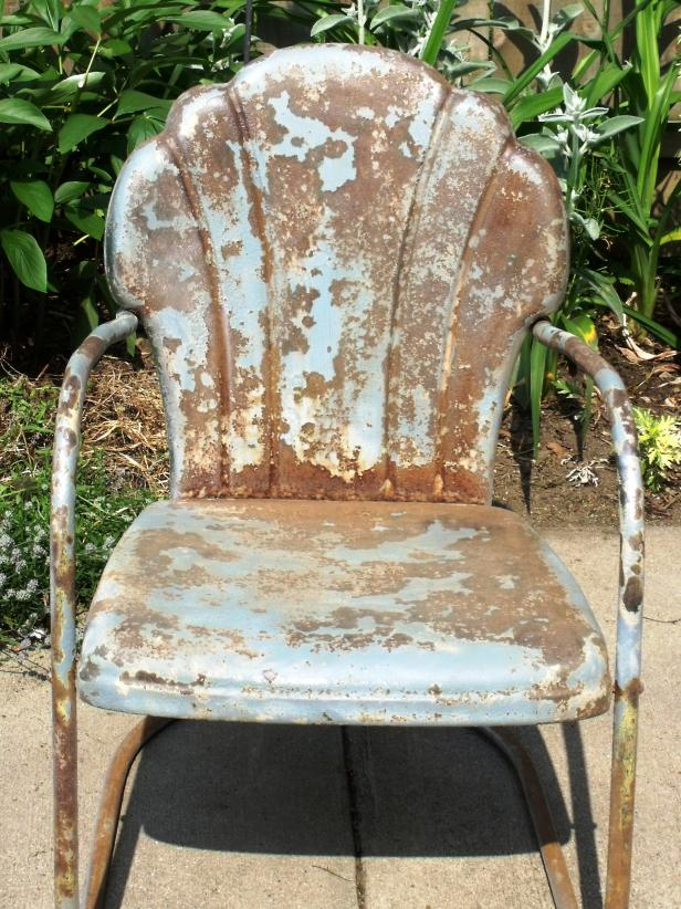 Old Metal Chair After Sanding