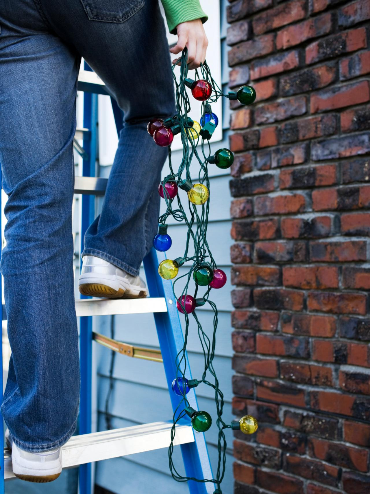 How to hang christmas lights diy be cautious when installing exterior lighting aloadofball Images