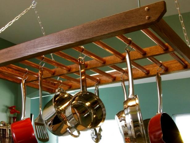 How To Build A Hanging Pot Rack How Tos Diy