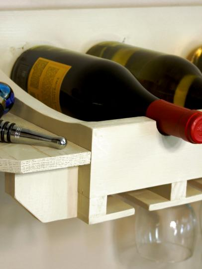 How to Build a Wine Rack for Bottles and Glasses | how-tos | DIY