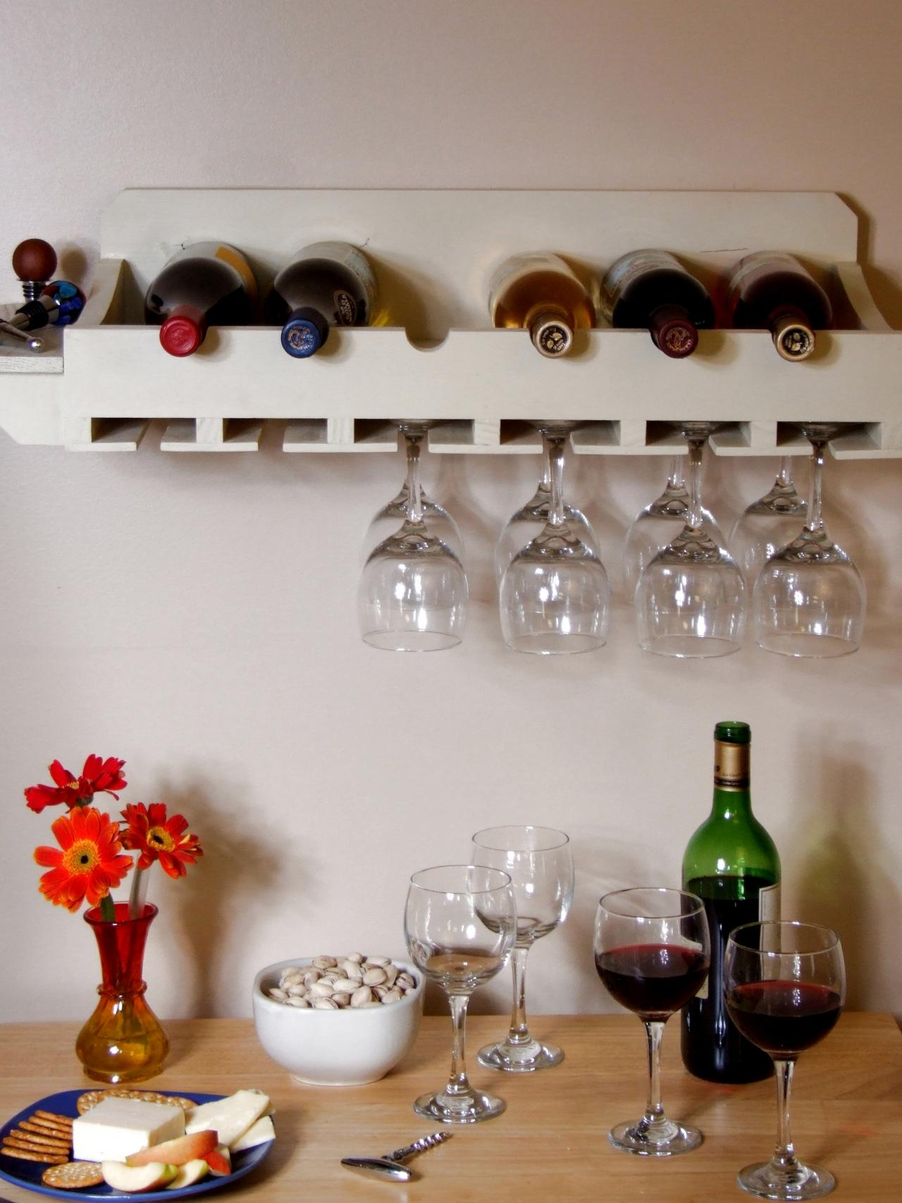 How To Build A Wine Rack For Bottles And Glasses How Tos Diy