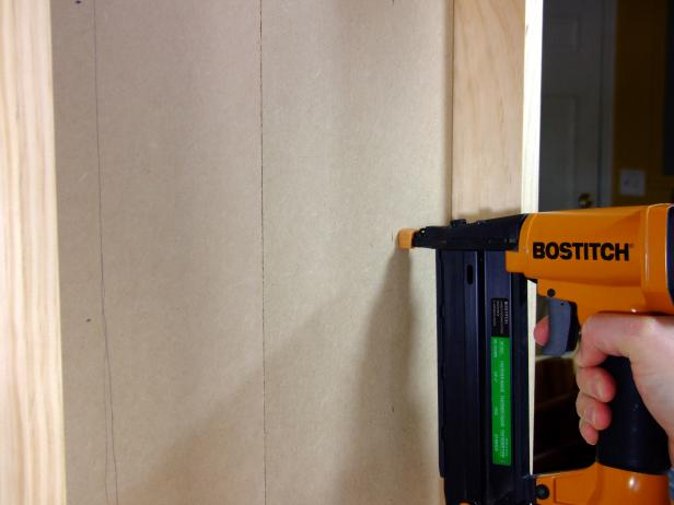 Attach the wainscot to the base with #18 x 5/8-inch brads as shown (Image 3).