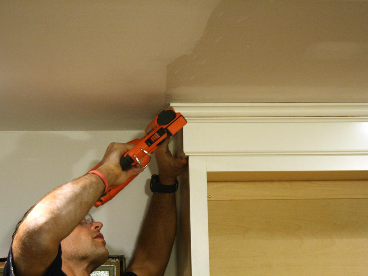 Perfect How to Install Cabinet Crown Molding | how-tos | DIY NU41