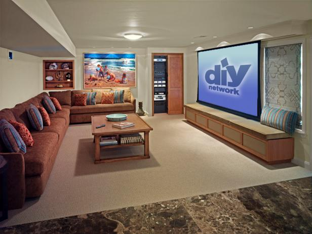 Family Friendly Home Theaters From DIYNetwork