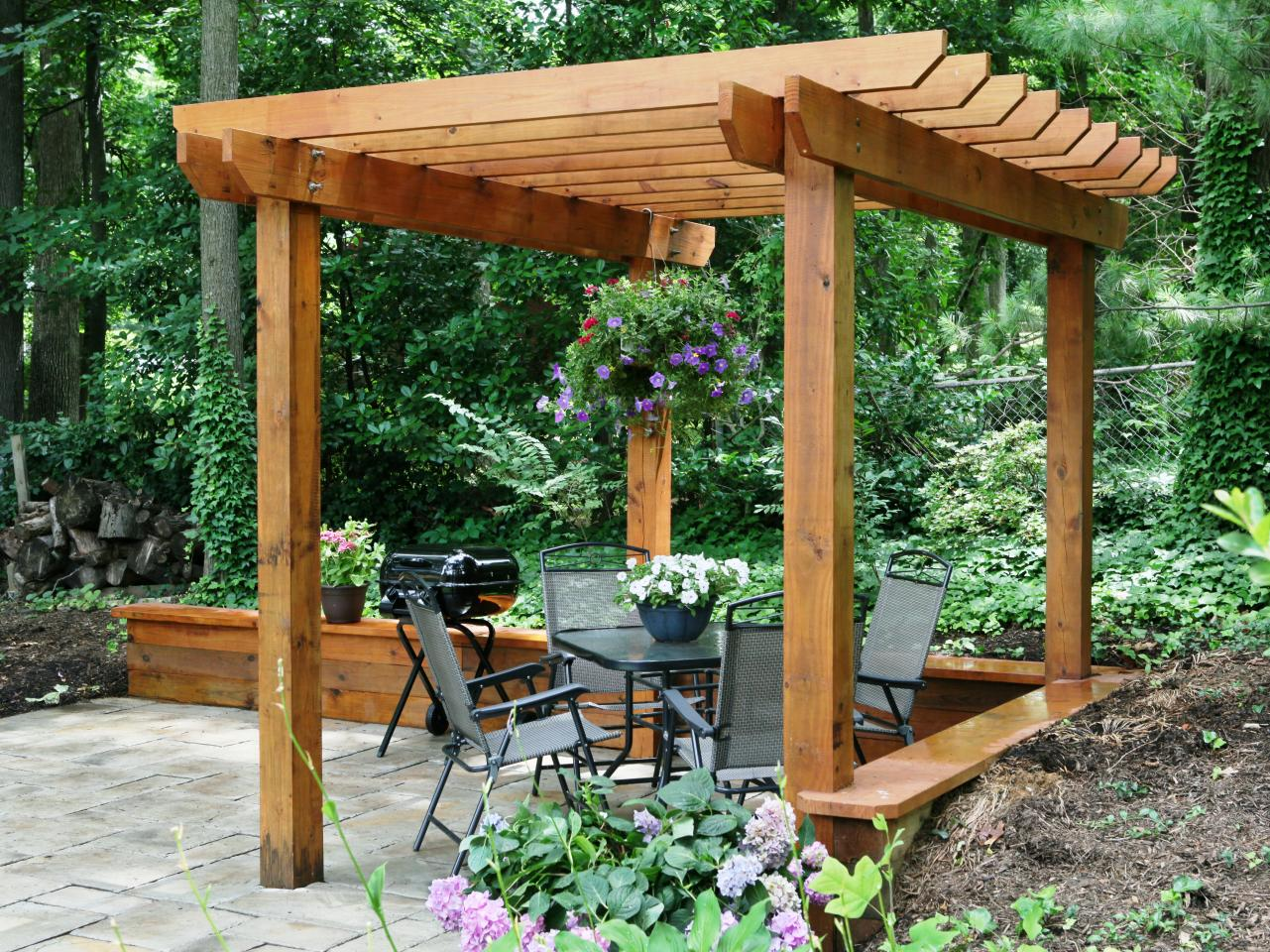 Vertical Garden Design With Gazebo Installation How to Build a Pergola