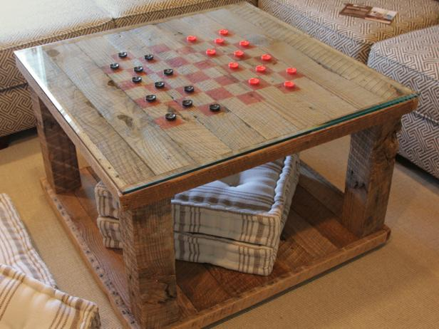 Build a Checkerboard Table with Reclaimed Wood