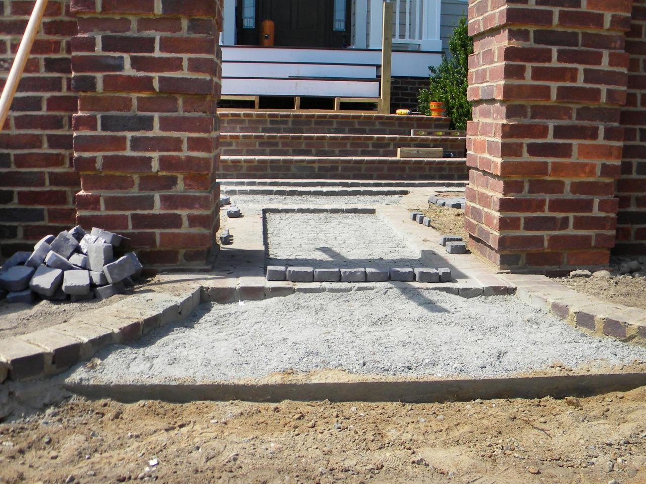 How To Install A Cobblestone Walkway How Tos Diy