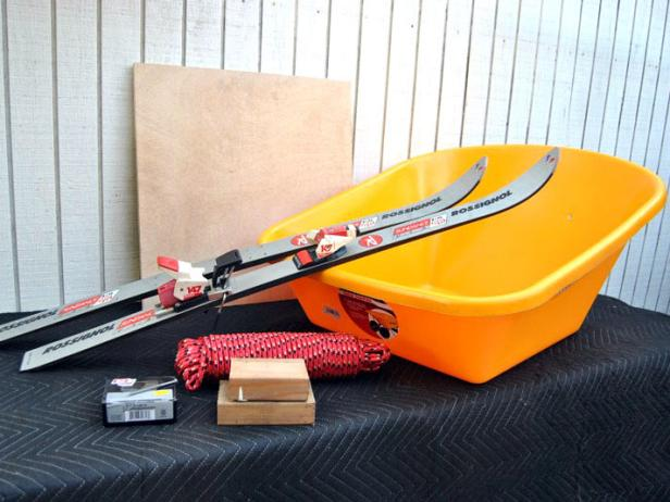 How to Build a Sled From a Pair of Old Skis and a