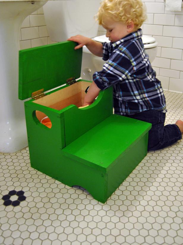 Woodworking Project How To Build A Storage Step Stool For Kids