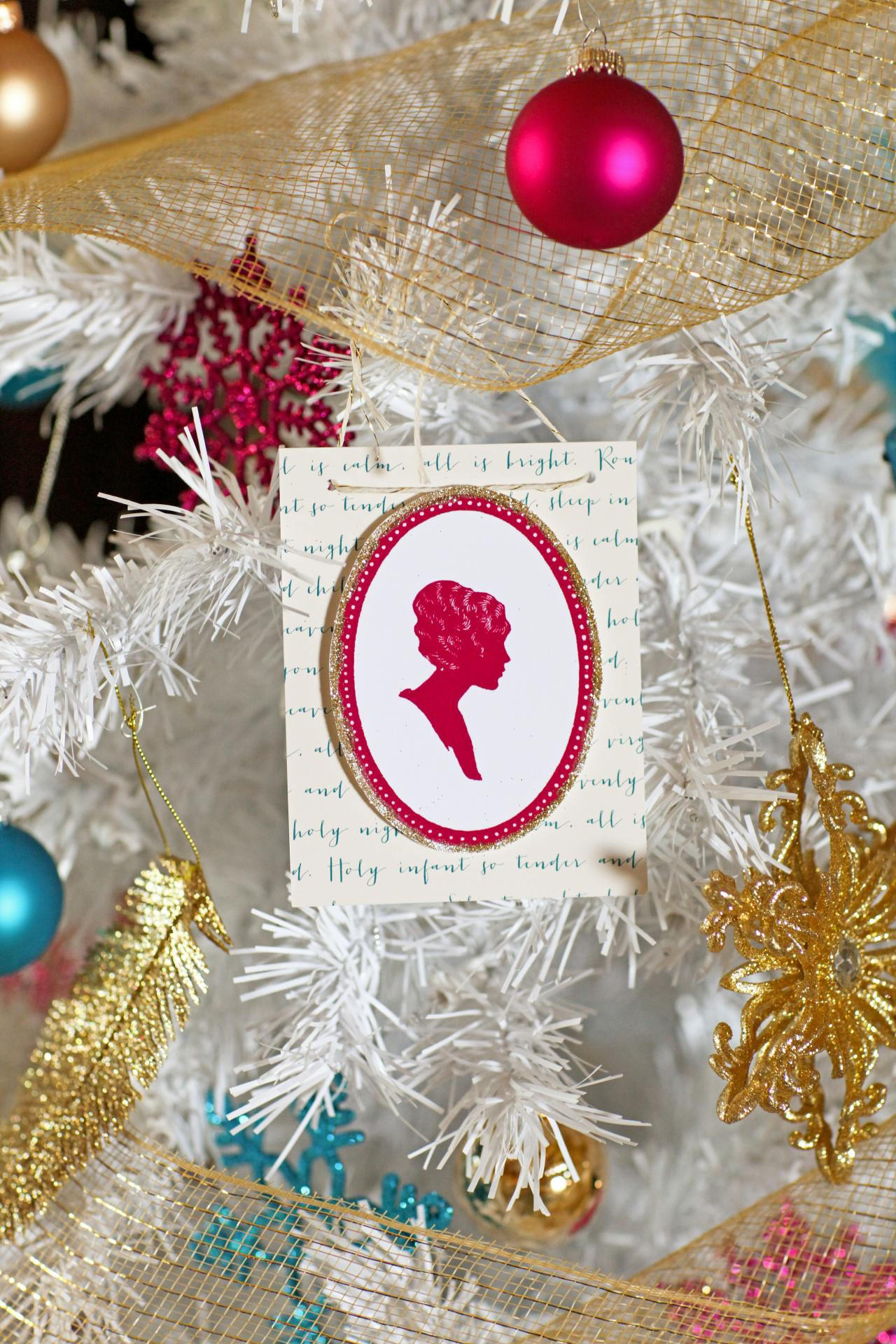 silhouette christmas ornament - Christmas Decoration Stores Near Me