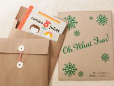 Wrapping flat and folded objects can present a gift-wrapping conundrum. Rather than sliding around in boxes or getting lost in gift bags amid heaps of tissue paper, items like books or scarves nestle in these printed gift envelopes.