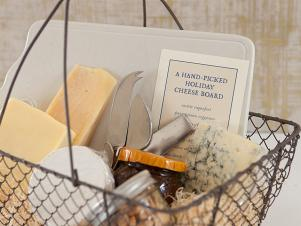A Holiday Gift Basket With Cheese