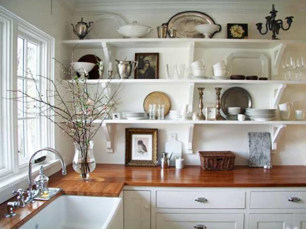 DIY Shelving Projects & Ideas | DIY on creative kitchen backsplashes ideas, creative kitchen countertop ideas, creative kitchen sink ideas,