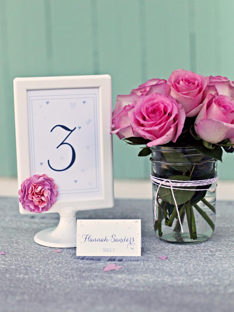 21 DIY Wedding Table Number Ideas