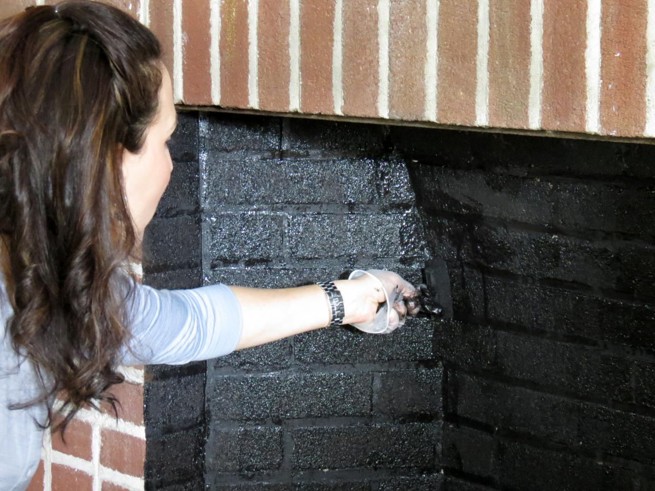 DIY Network has instructions on how to transform an old fireplace with new paint and molding.