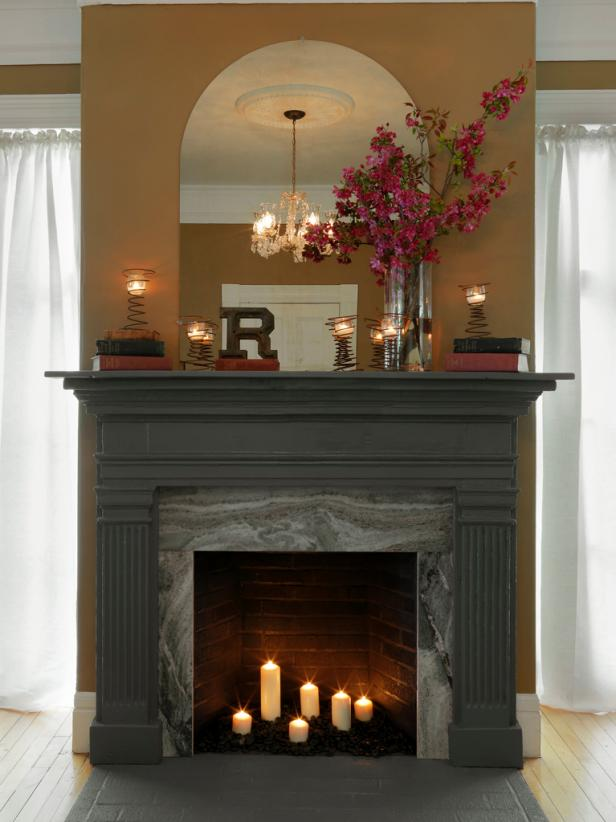 Remarkable How To Cover A Fireplace Surround And Make A Mantel How Home Interior And Landscaping Ferensignezvosmurscom