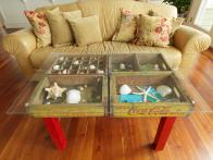 How to Make a Table Using Old Wood Soda Crates