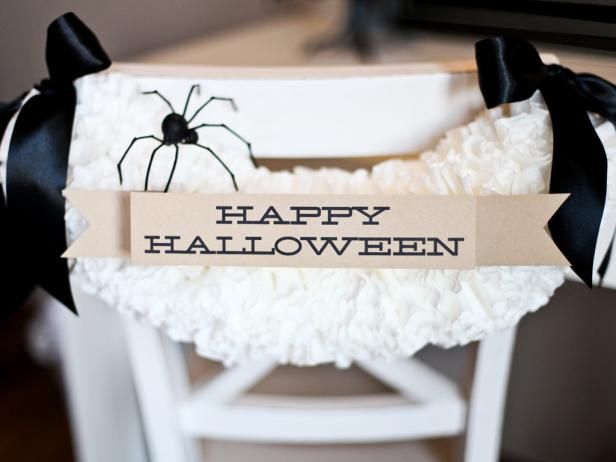 Halloween Chair Garland