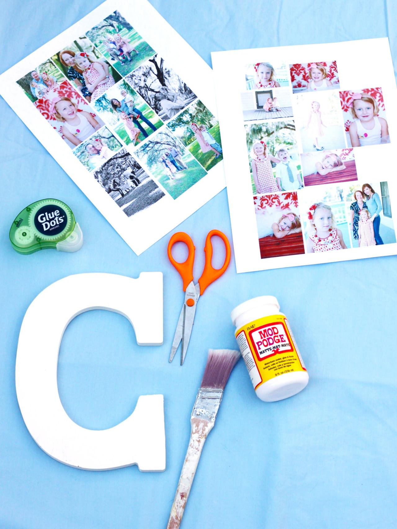 How To Make A Photo Collage On A Big Letter  HowTos  Diy