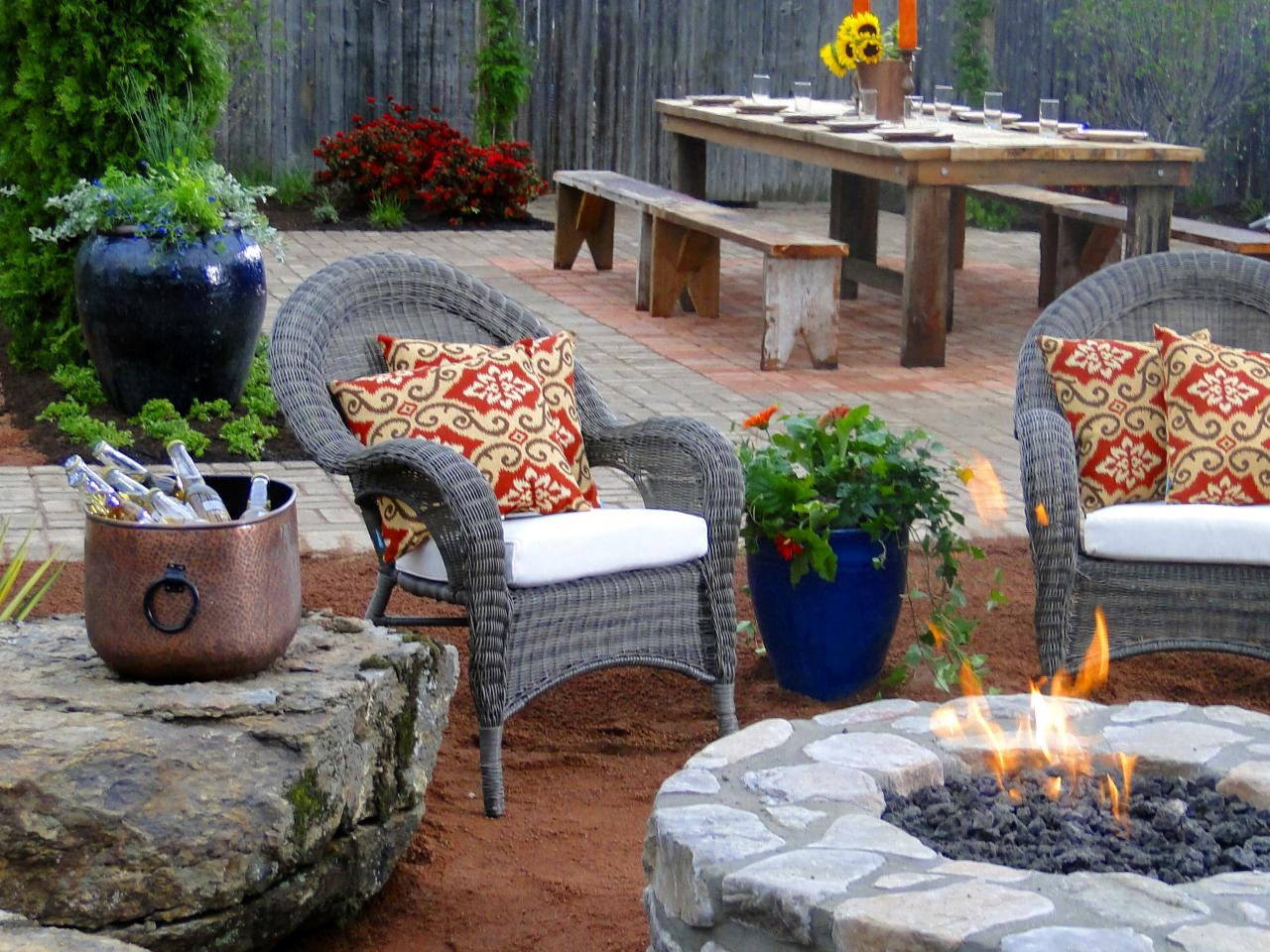 66 fire pit and outdoor fireplace ideas diy network blog Fireplace setting ideas