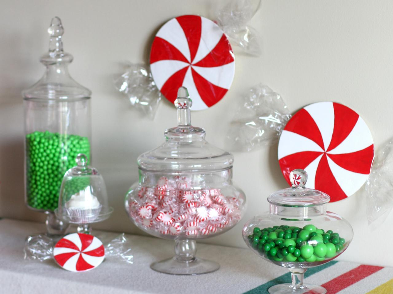how to make christmas candy decorations - Peppermint Christmas Decorations