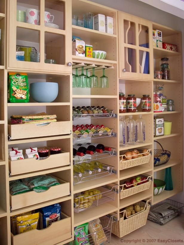 Organization and Design Ideas for Storage in the Kitchen Pantry | DIY