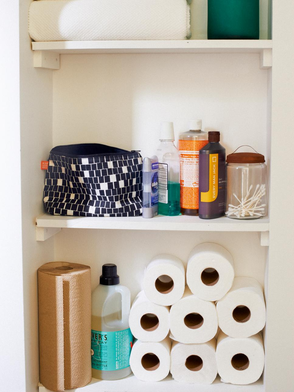 How To Organize A Small Bathroom Storage