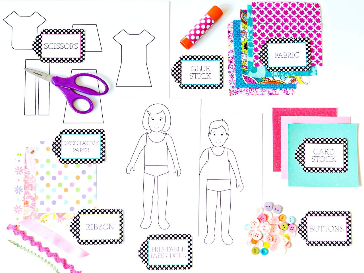 How to make paper dolls with downloadable patterns how tos diy introduction jeuxipadfo Choice Image