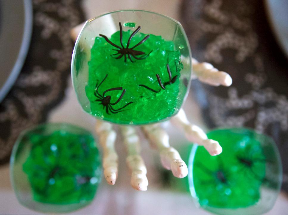 Halloween Party Ideas Make Green Gelatin Shots With