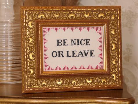 Be Nice or Leave: Subversive Cross Stitch Pattern