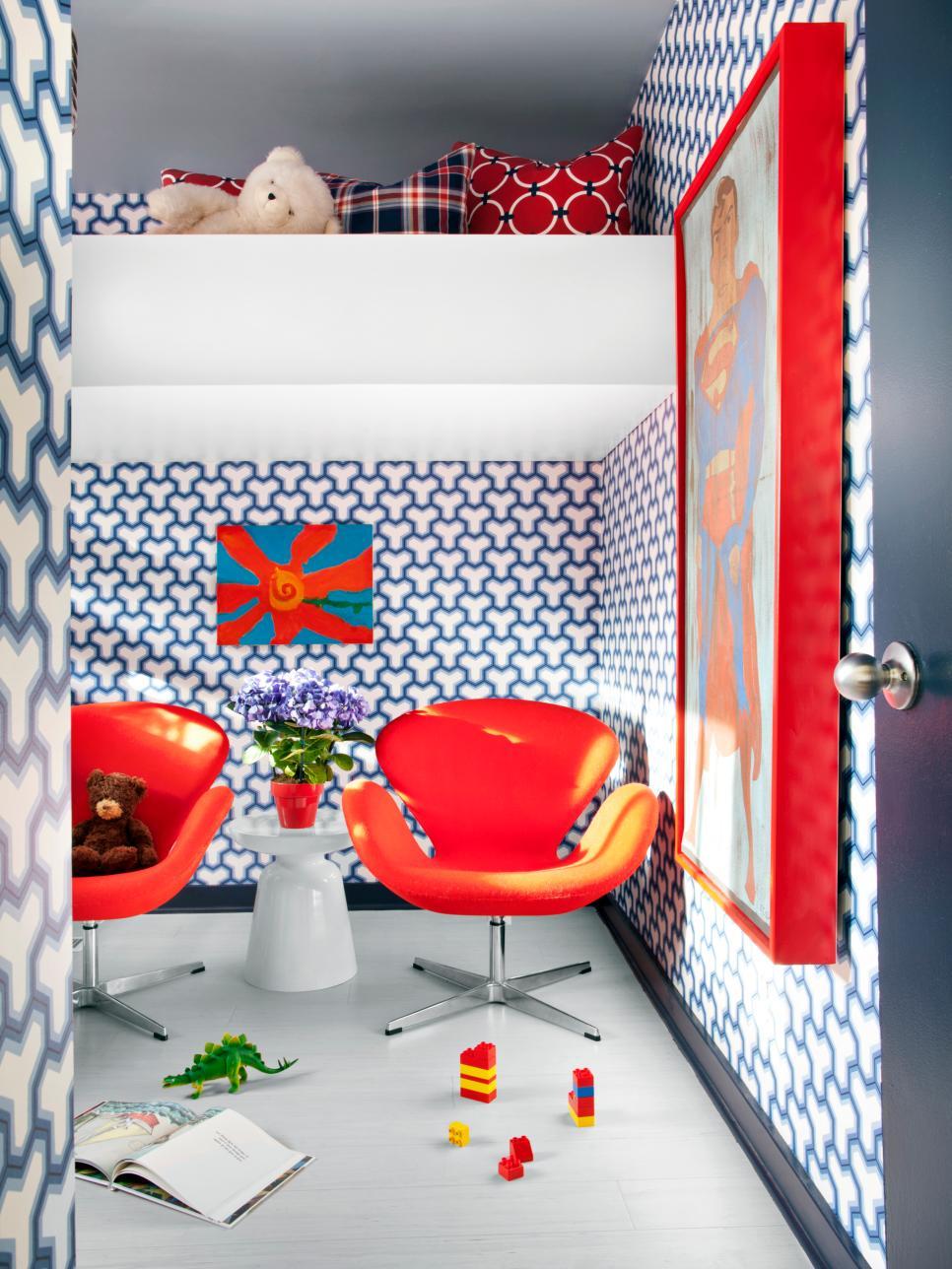 amazing kids bedroom decorating ideas | Decorating Ideas for Fun Playrooms and Kids' Bedrooms | DIY