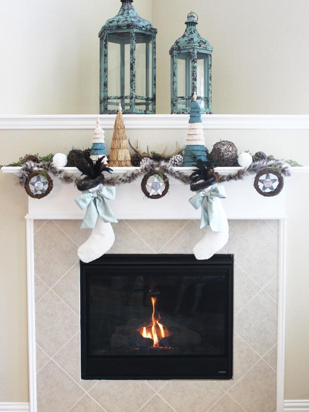 Blogger Challenge: HGTV Holiday House Fireplace Mantel Design | DIY