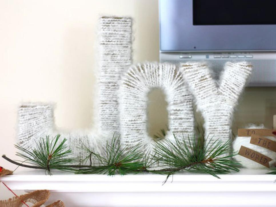 a rustic winter wonderland christmas mantel