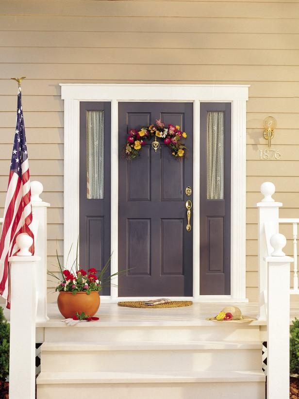 28 inviting colors to paint a front door - Front Door Entrance Christmas Decoration