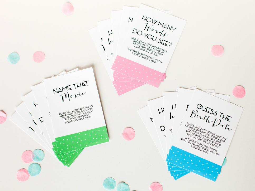 Baby shower games and printable game cards diy guess how many gumballs negle