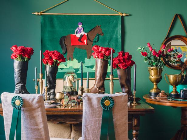 Equestrian Style Baby Shower Table Setting