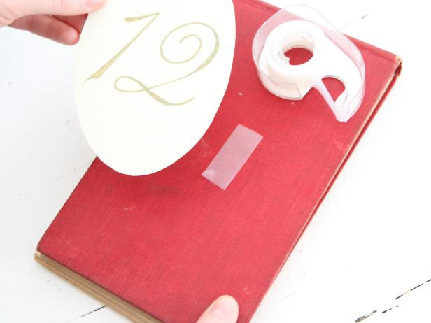 Vintage Book Table Numbers Step 10