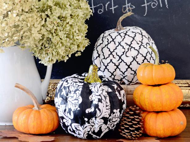 Thanksgiving Decoupage Pumpkins