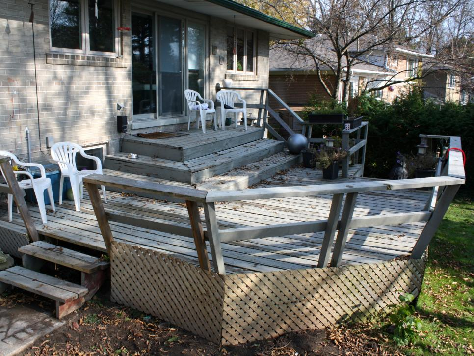 Backyard Deck Before and After Deck and Patio Makeovers