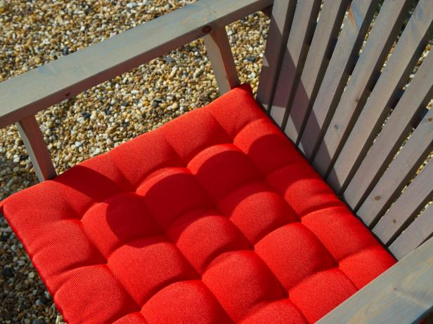 Red Cushion on Outdoor  Chair