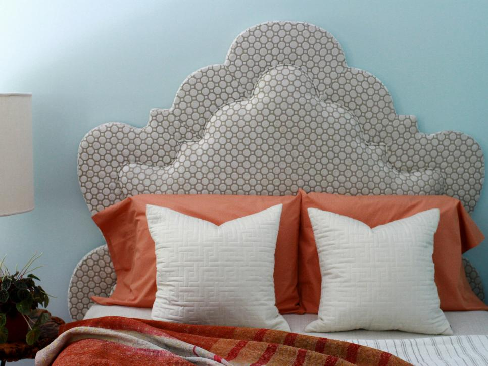 How to make a padded fabric headboard with buttons
