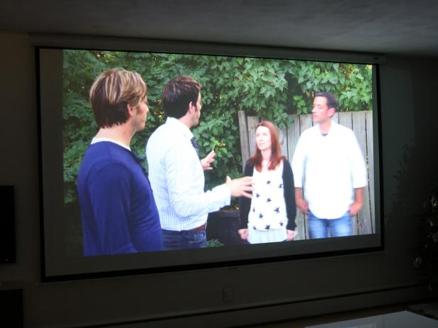 Install Projector Screen Media Room