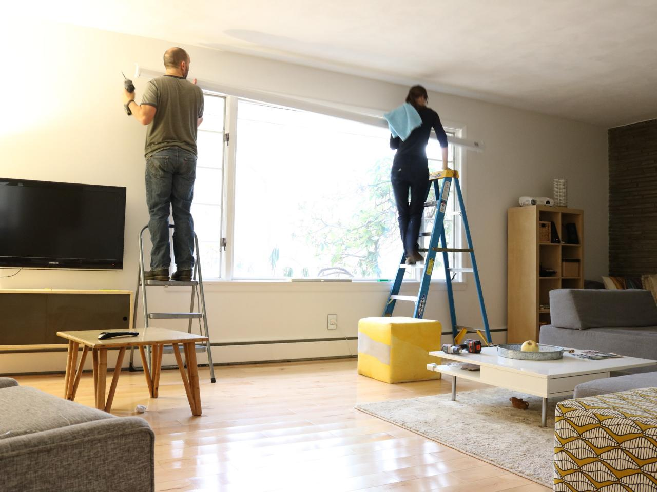 Learn How to Install a Media Room Projector Screen | how-tos | DIY