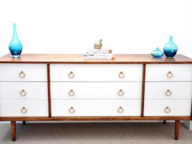 How To Refurbish An Old Dresser Using Stain And Paint Diy