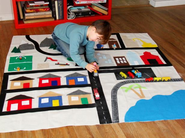 How To Make A Kid S Activity Rug How Tos Diy