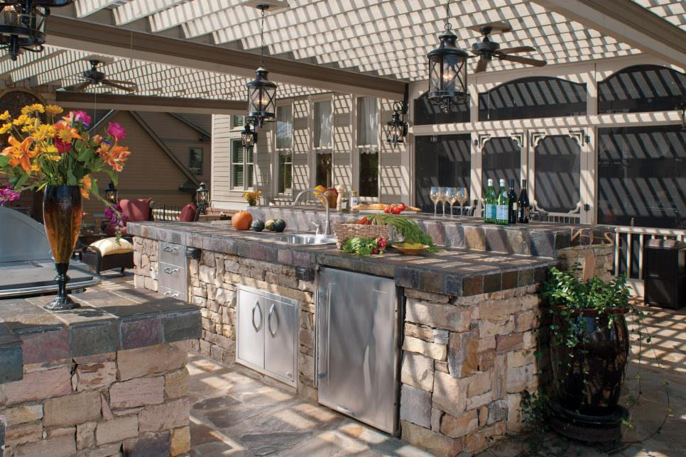 Moroccan Features Outdoor Kitchen Photos  HGTV